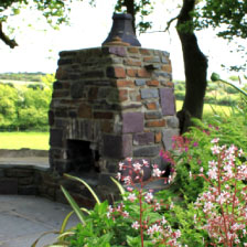 Ty Llwyd outside fireplace